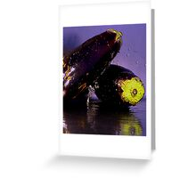 Purple Rain & Passionate Eggplant Greeting Card