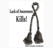 Lack of Awareness Kills- Sq Decal by Rabecca Primeau