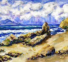 El Pescador Beach Storm Coming by Randy Sprout