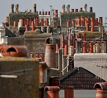 Chimney pots by Kevin  Poulton