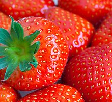 Strawberries by Kevin  Poulton