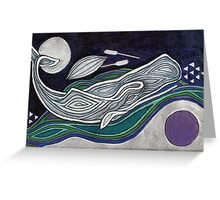 The Dark Salt Sea (Moby Dick) Greeting Card
