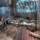 As I Lay Me Down To Sleep....Abandoned Mental Asylum, Wacol Brisbane, by Damon Lancaster