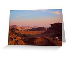 Wadi Rum Desert in Jordan - Sunset Greeting Card