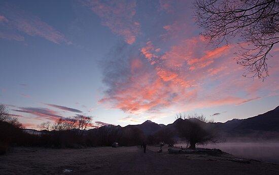 Frosty morning, KInloch on Lake Wakatipu, NZ by Odille Esmonde-Morgan