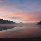 Lake Wakatipu (NZ) at dawn, looking south from Kinloch by Odille Esmonde-Morgan