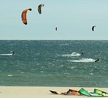Racing On a Breezy Summer Afternoon by BarbL