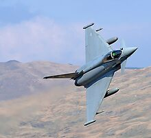 Lowflying Typhoon 02 in The Welsh Hills April 2010 by Barry Culling