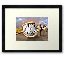 Melting Surreal Watch Framed Print