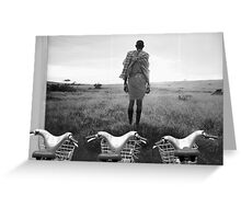 Massai and his herd. Greeting Card