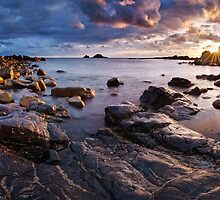 Cornwall - Priest Cove Panorama by Michael Breitung