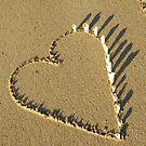 Heart Installation on Darwin Beach by Carol James