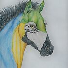 "Young Parrot Horse ""SeaSpray"" by Beth Clark-McDonal"