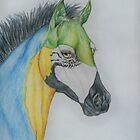 "Young Parrot Horse ""SeaSpray"" by Beth Clark-McDonal"