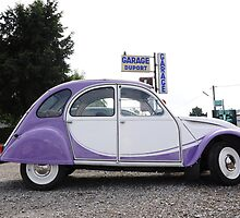 Citroen 2CV in Milka Colours by Hans Kool