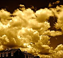 Row House and Clouds by Dr. Charles Taylor