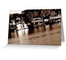 HouseBoats Greeting Card