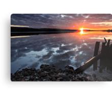 """Winter Sunset"" Metal Print"