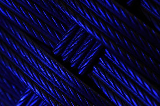 Blue Crosshatch by Edge-of-dreams