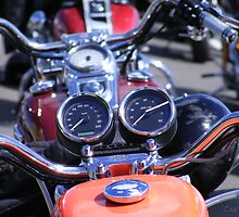 Harley Davidson line up by UrSpecialAngel