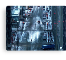 Montreal - Red lights. Canvas Print
