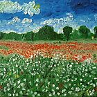 Country field with flowers by Peter Pesta