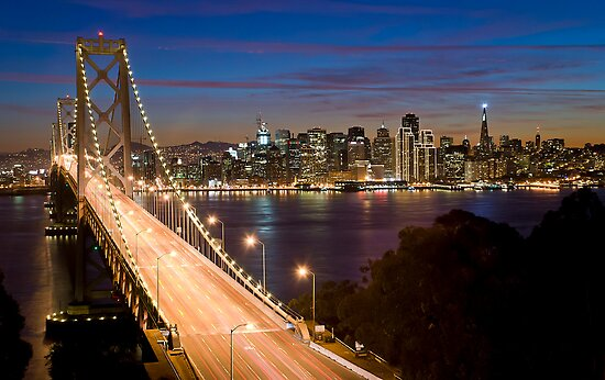San Francisco at Night by Radek Hofman