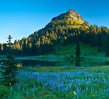 Dawn on Yakima Peak by RavenFalls