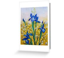 Iris and Forsythia Greeting Card