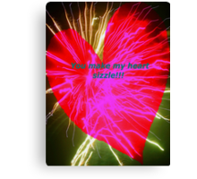 Sizzling love Canvas Print