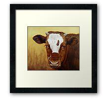 Rusty Red Calf Framed Print
