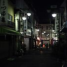 Tokyo back street at night by Alan Black