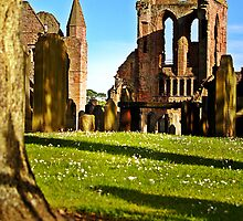 Summer Sun On Arbroath Abbey. by Aj Finan
