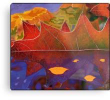Oak Leaf Dreams of a Colorful World Metal Print