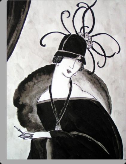 """""""*Ritzy"""" Roaring Twenties Lady with cloche by patjila"""