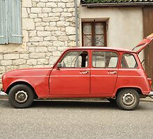 "Renault 4, ""Quatrelle"", Red by Hans Kool"