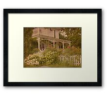 House with the white picket fence Framed Print