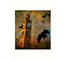 the clocktower Art Print