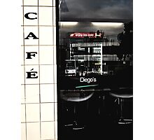 Diego's Cafe` (6) Photographic Print