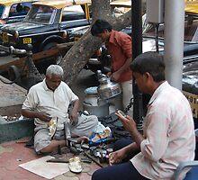 Busy street corner with telecom by vesa50