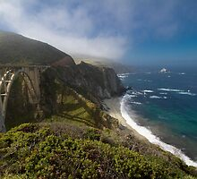 Highway 1, Big Sur, California USA by geoff curtis