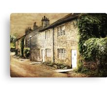 Downham Cottages Canvas Print