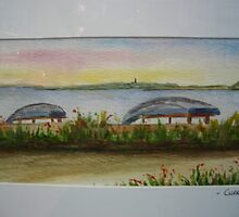Currachs at Cappa, Kilrush by Pauline Dunleavy
