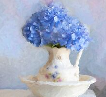 Monica's Hydrangeas by Michael  Petrizzo