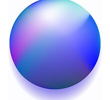 Blue magic ball by Laschon Robert Paul