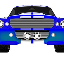 Blue sport car front by Laschon Robert Paul