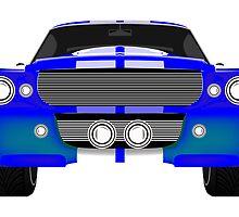 Blue sport car front by Laschon Robert Paul