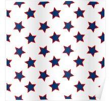 american flag stars background Poster