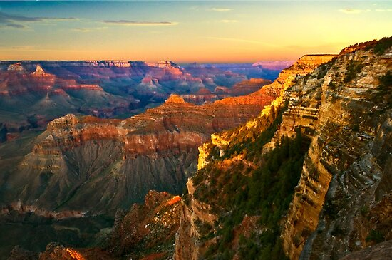 Sunset at Grand Canyon National Park, Arizona by LudaNayvelt
