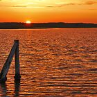 Sunset over Plan Tureluur by Adri  Padmos